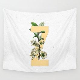 Letter 'Z' Monogram Wall Tapestry