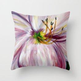 Lavendar Daylily Throw Pillow