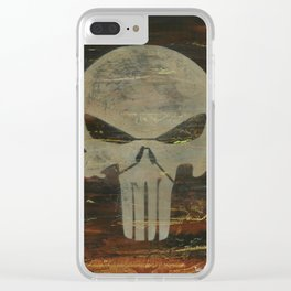 Apocalyptic Punisher painting Clear iPhone Case