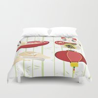 japanese Duvet Covers featuring japanese by Kozza