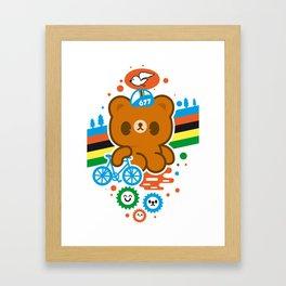 CycleBear - champignon du monde Framed Art Print