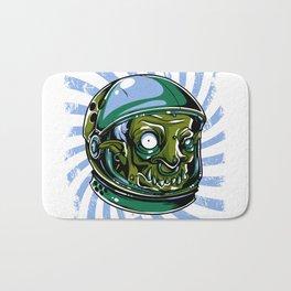 Astronaut Zombie Scary Face - I WAS TAKEN BY ALIENS Bath Mat