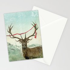 hold deer, tsunami Stationery Cards