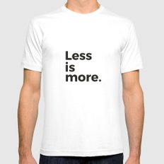 Less is more White MEDIUM Mens Fitted Tee