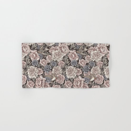 Flowers & Swallows Hand & Bath Towel