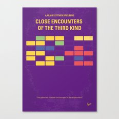 No353 My ENCOUNTERS OF THE THIRD KIND minimal movie poster Canvas Print