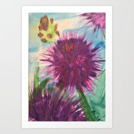 Purple Thistle Growing Art Print