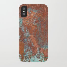Tarnished Metal Copper Texture - Natural Marbling Industrial Art iPhone Case
