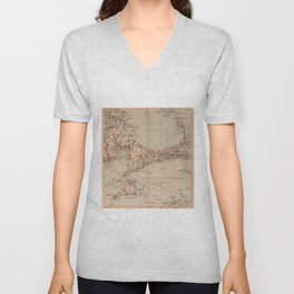 Vintage Map of Cape Cod MA (1905) Unisex V-Neck