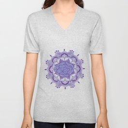 Purple Mandala Unisex V-Neck