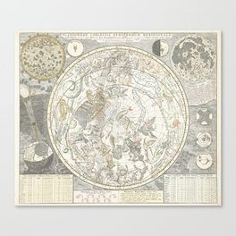 Star map of the Southern Starry Sky Canvas Print