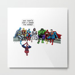 And That's How I Saved The World Jesus Shirt Metal Print