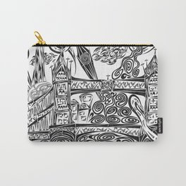 Jumbled London Carry-All Pouch