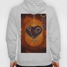 Steampunk, heart with gears Hoody