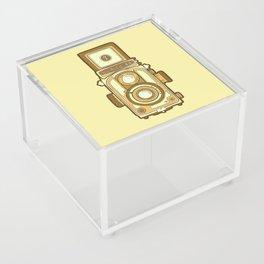 Vintage camera yellow Acrylic Box