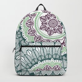 Color teal and purple feather mandala hippie boho Backpack