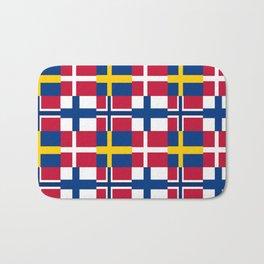 Flags of scandinavia2: finland, denmark,swede,norway Bath Mat