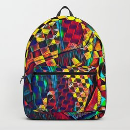 6076-KMA Checkerboard Woman in Color Field Backpack