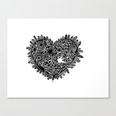 Lotta heart that city Canvas Print