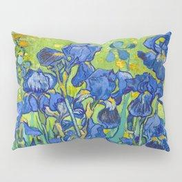 Vincent Van Gogh Irises Painting Detail Pillow Sham