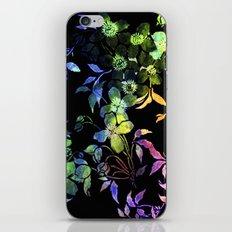 garland of flowers black version 2 iPhone Skin