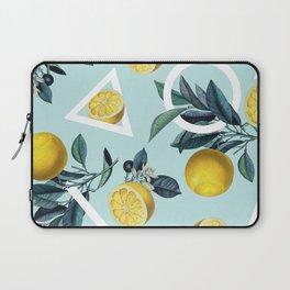 Geometric and Lemon pattern III Laptop Sleeve
