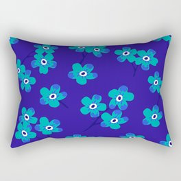 Forget-me-nots - Blue Rectangular Pillow