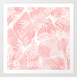 Abstract Soft Pink Tropical Design Art Print