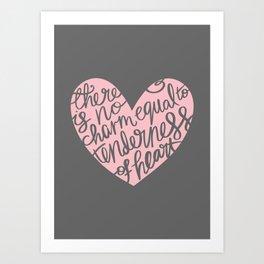 Jane Austen Emma Tenderness Heart Art Print