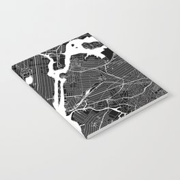 New York City Black And White Map Notebook