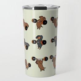 Olympic Lifting Dachshund Travel Mug