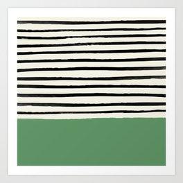 Moss Green x Stripes Kunstdrucke
