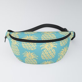Mid Century Modern Pineapple Pattern Blue and Yellow Fanny Pack