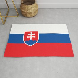 Slovakian Flag - High Quality Image Rug