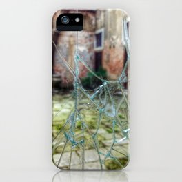 Broken window to Venice courtyard iPhone Case