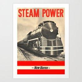 Steam Power Art Print