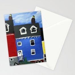Newfoundland Houses Canada acrylics on canvas Stationery Cards