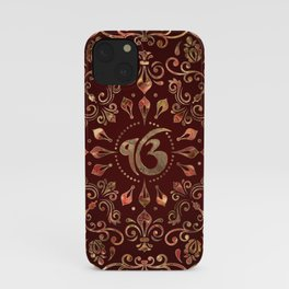 Ek Onkar / Ik Onkar  Gemstone red and gold iPhone Case