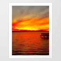 Sunset p.3 Art Print
