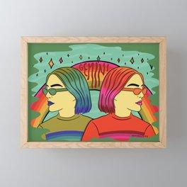 Gemini Framed Mini Art Print