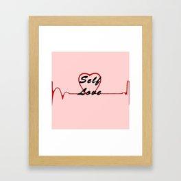 Self Love, Pink Framed Art Print
