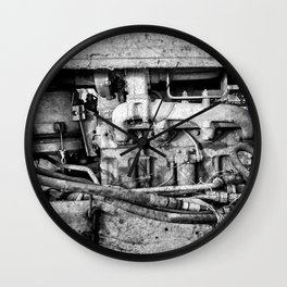 Vintage Engine Machine Block Grunge Grime Wall Clock