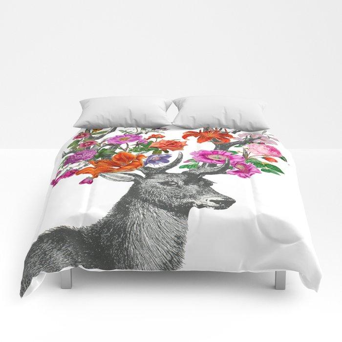 Deer and flowers Comforters