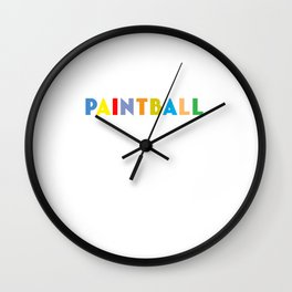 Paintball Player Paintball Game Paintball Marker Gift Wall Clock