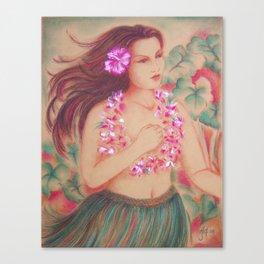 Vintage Hula, Wahine Canvas Print