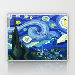 Tardis Art Starry Night Laptop & iPad Skin