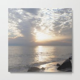 Watercolor Sunset, St. Marks NWR 02, Florida Metal Print