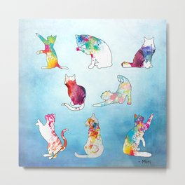 Painted Cats Metal Print