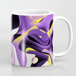Nonbinary Pride Overlapping Abstract Waveforms Coffee Mug