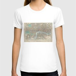 Vintage Map of London (1848) T-shirt